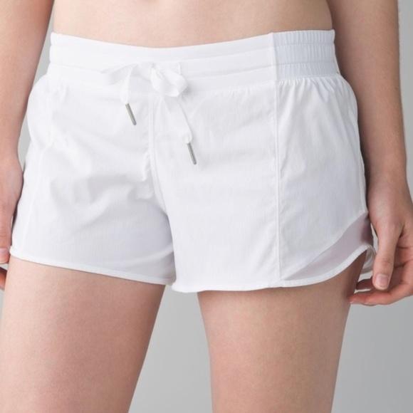 cf86f127b3e lululemon athletica Shorts | Lululemon Hotty Hot White | Poshmark